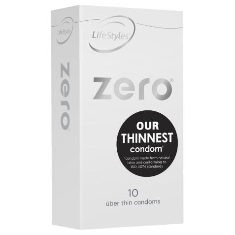 Lifestyles Zero Uber Thin Condoms 10 Pack