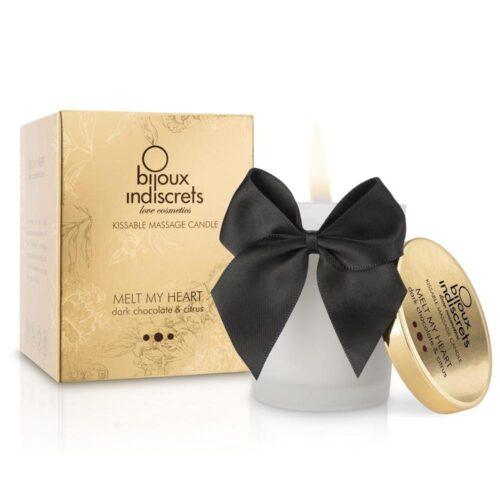 Bijoux Melt My Heart Dark Chocolate Massage Candle