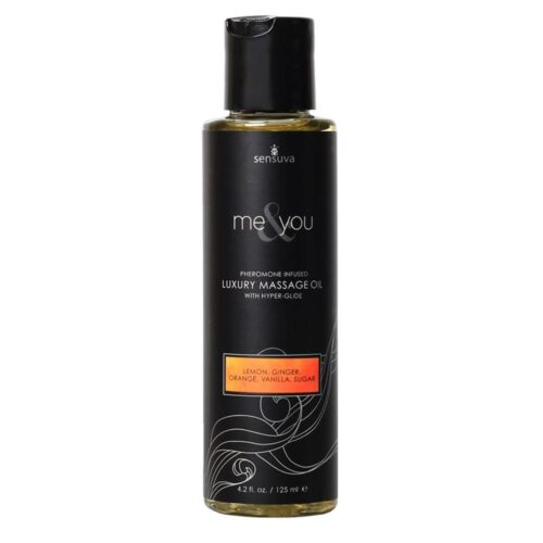 Sensuva Me And You Massage Oil Lemon Ginger 125ml