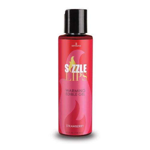 Sensuva Sizzle Lips Warming Gel Strawberry 125ml