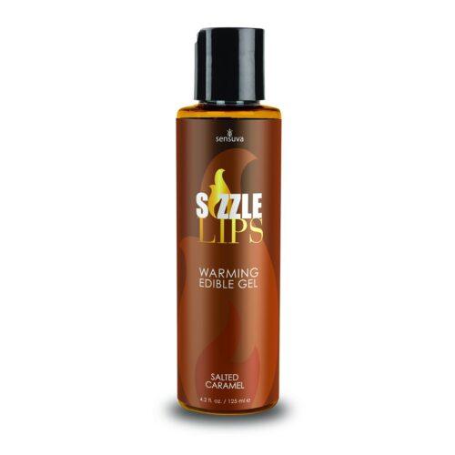 Sensuva Sizzle Lips Warming Gel Salted Caramel 125ml