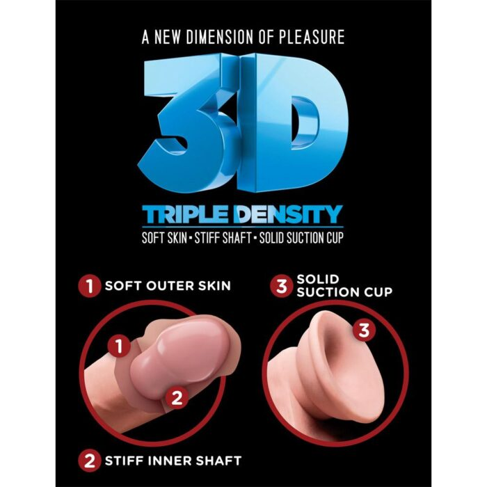 Pipedream King Cock Plus Triple Density Cock with Balls 8 Inch - Light