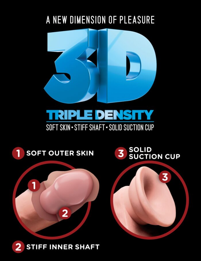 Pipedream King Cock Plus Triple Density Cock with Balls 10 Inch - Light