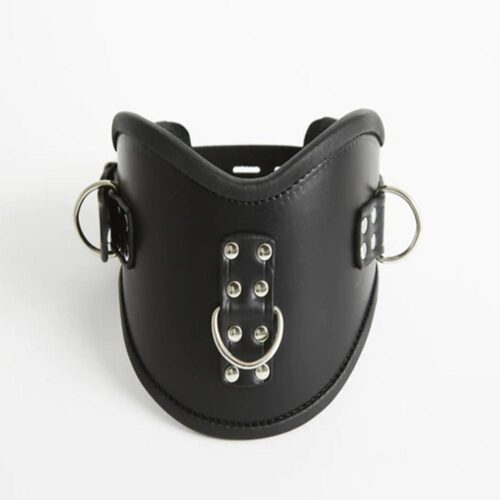 S(A)X Leather Lockable Posture Collar With 3D Rings