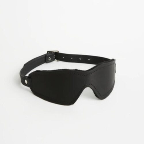 S(A)X Plush Leather Blindfold Small Buckle