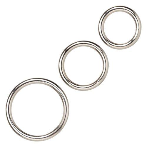 Calexotics Silver Cock Ring Set