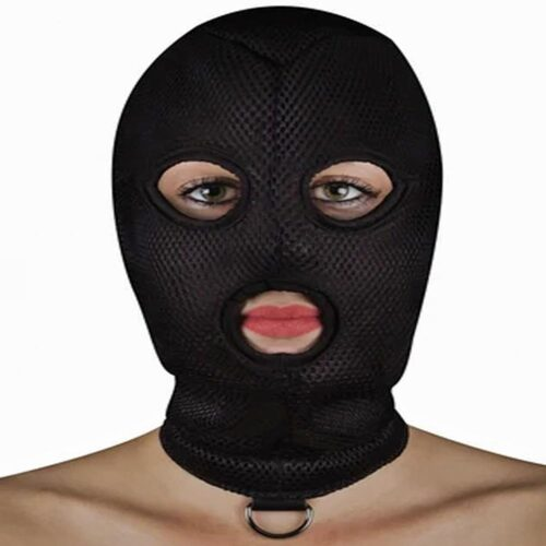 Shots OUCH! Extreme Mesh Balaclava with D Ring - Black