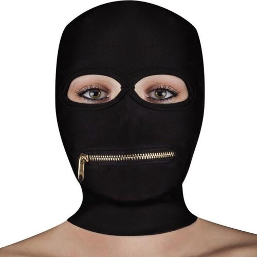 Shots OUCH! Extreme Zipper Mask - Black