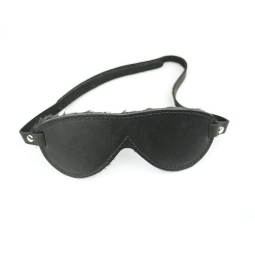S(A)X Plush Leather Blindfold Aviator Velcro