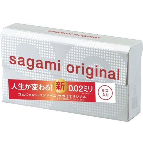 Sagami Original 0.02 Polyurethane Condom 6 Pack
