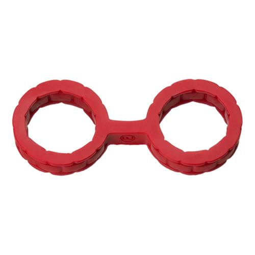 Doc Johnson Japanese Silicone Bondage Cuffs Large - Red