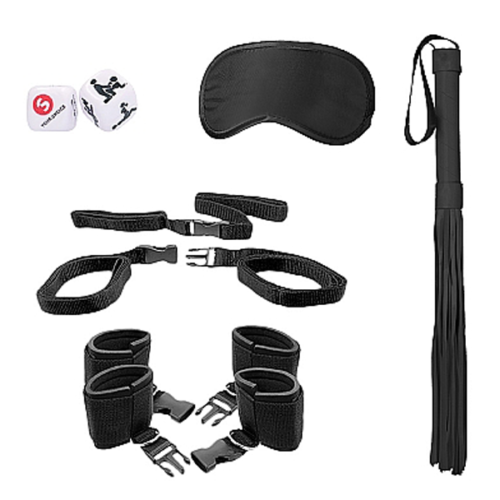 Shots OUCH! Bed Post Bindings Restraint Kit - Black