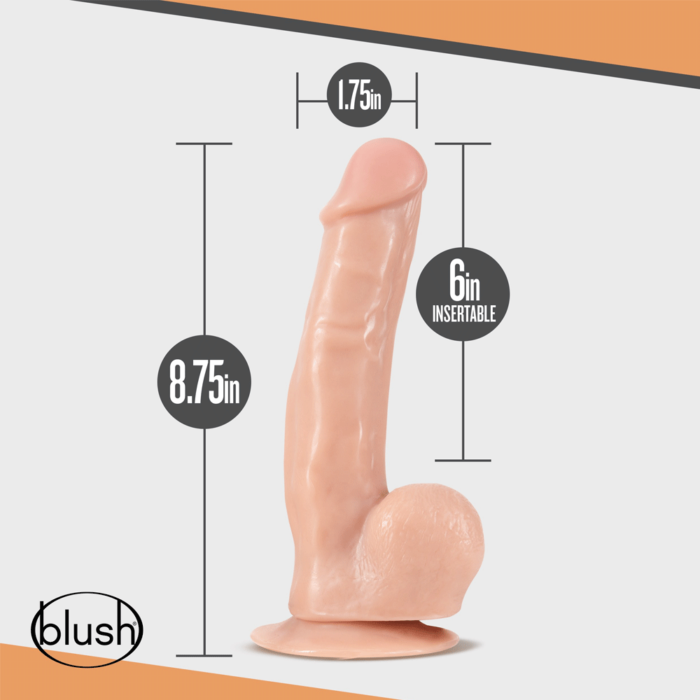 Blush Dr Skin Dr. Spin 8 Inch Gyrating Realistic Dildo with Suction Cup - Vanilla