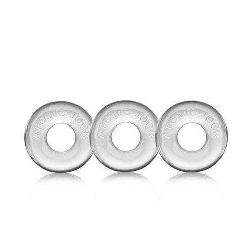Oxballs Ringer Three Pack of Cock Rings - Clear