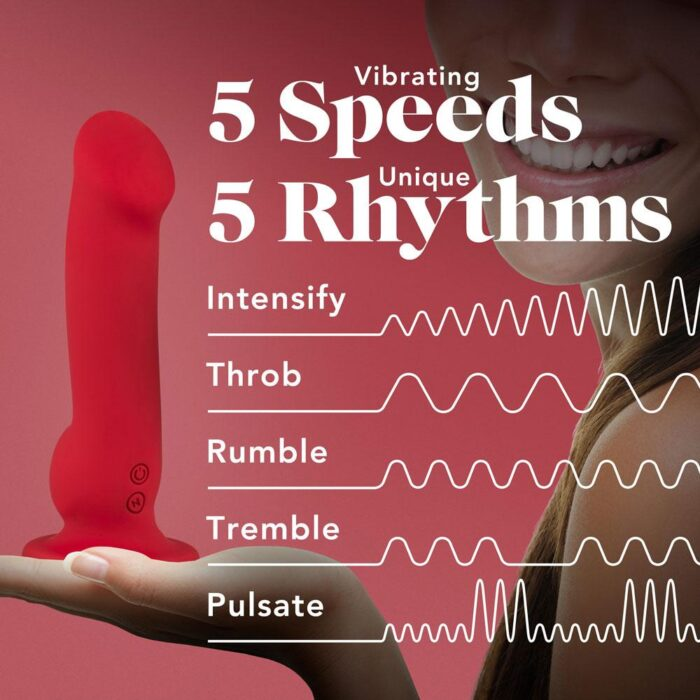 Blush Impressions N5 Rechargeable Dildo - Crimson Red